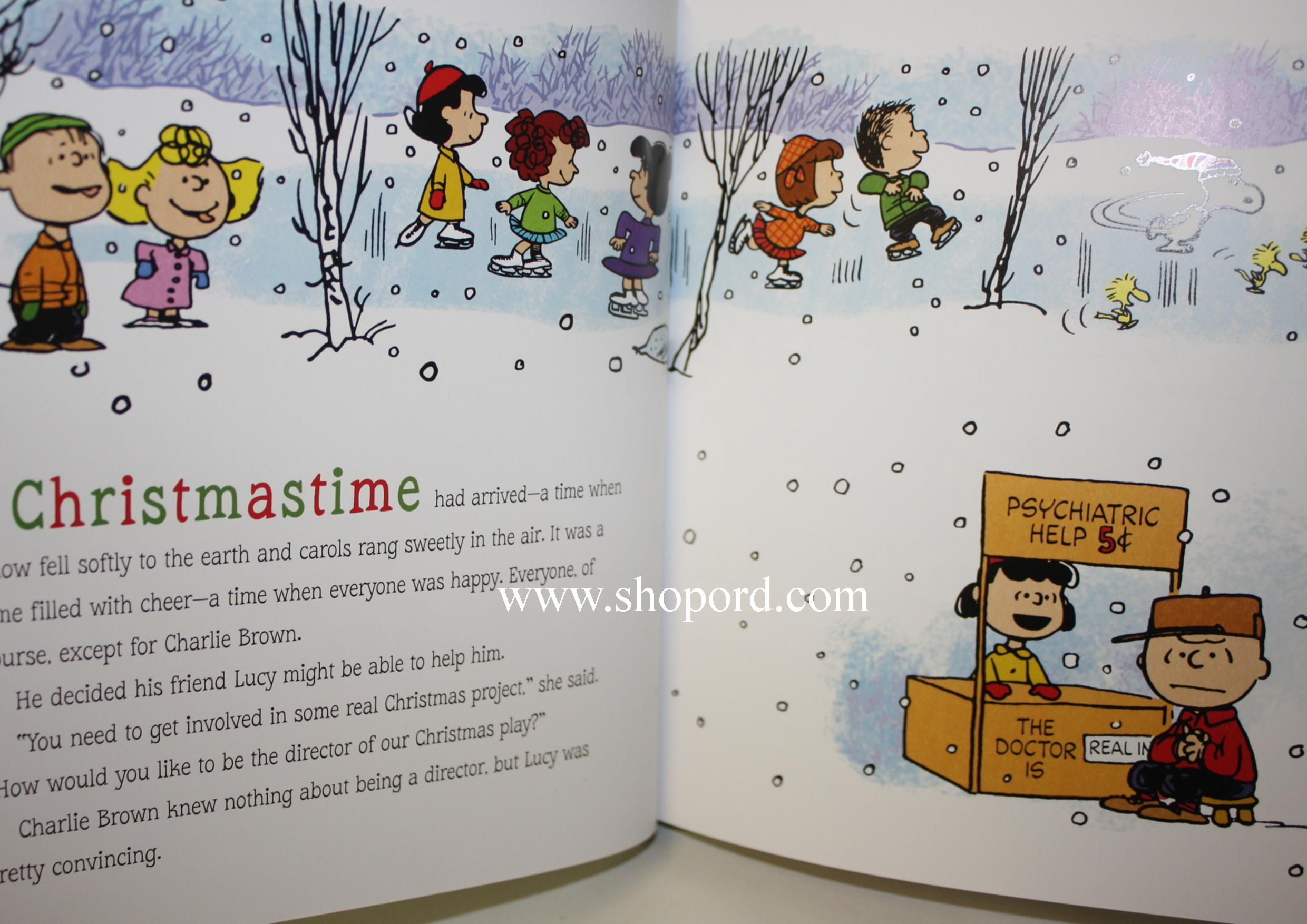 A Charlie Brown Christmas Book.Hallmark Peanuts A Charlie Brown Christmas Hardcover Book 50