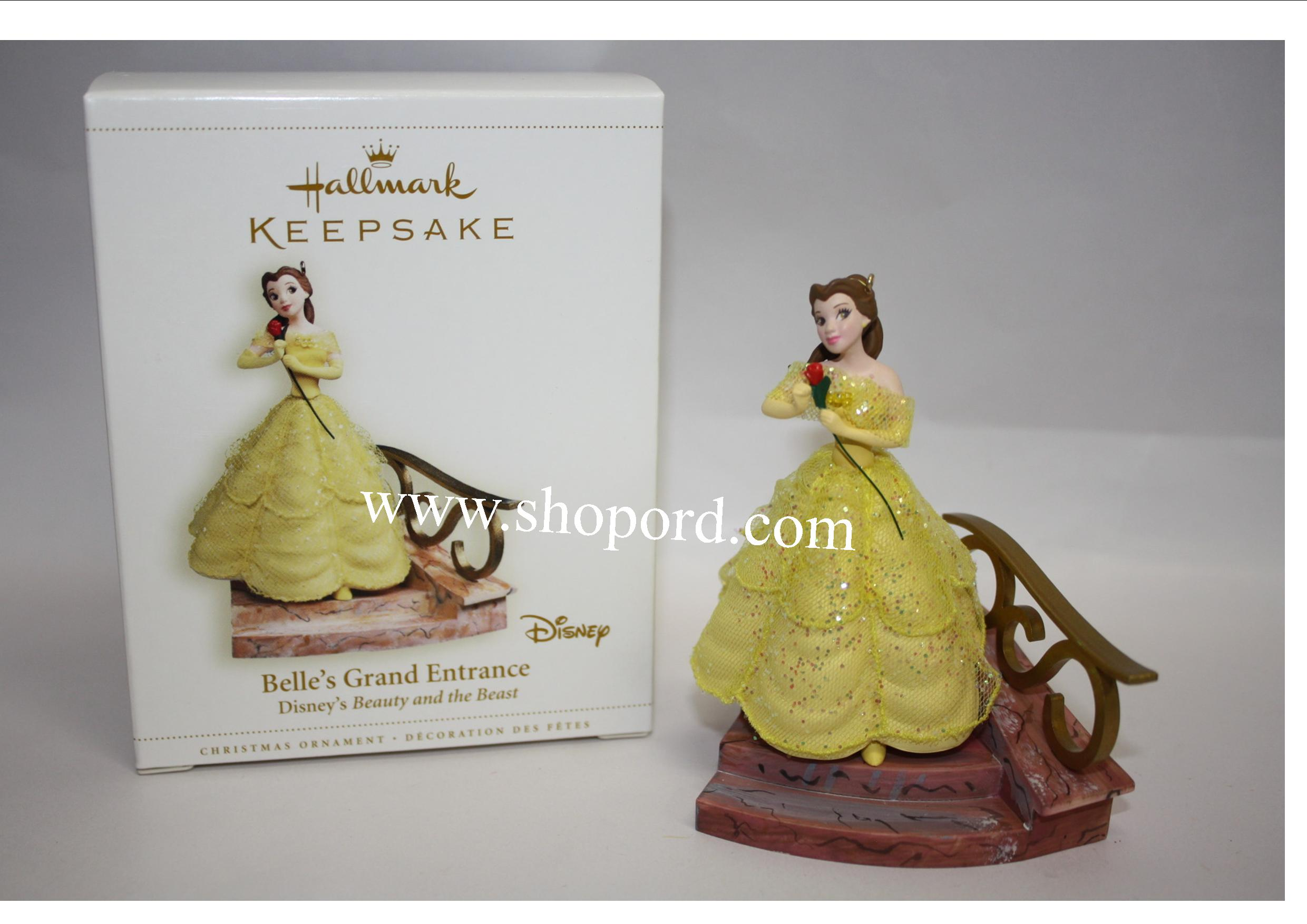 hallmark 2006 belles grand entrance disneys beauty and the beast qxd8363 - Disney Beauty And The Beast Christmas Decorations