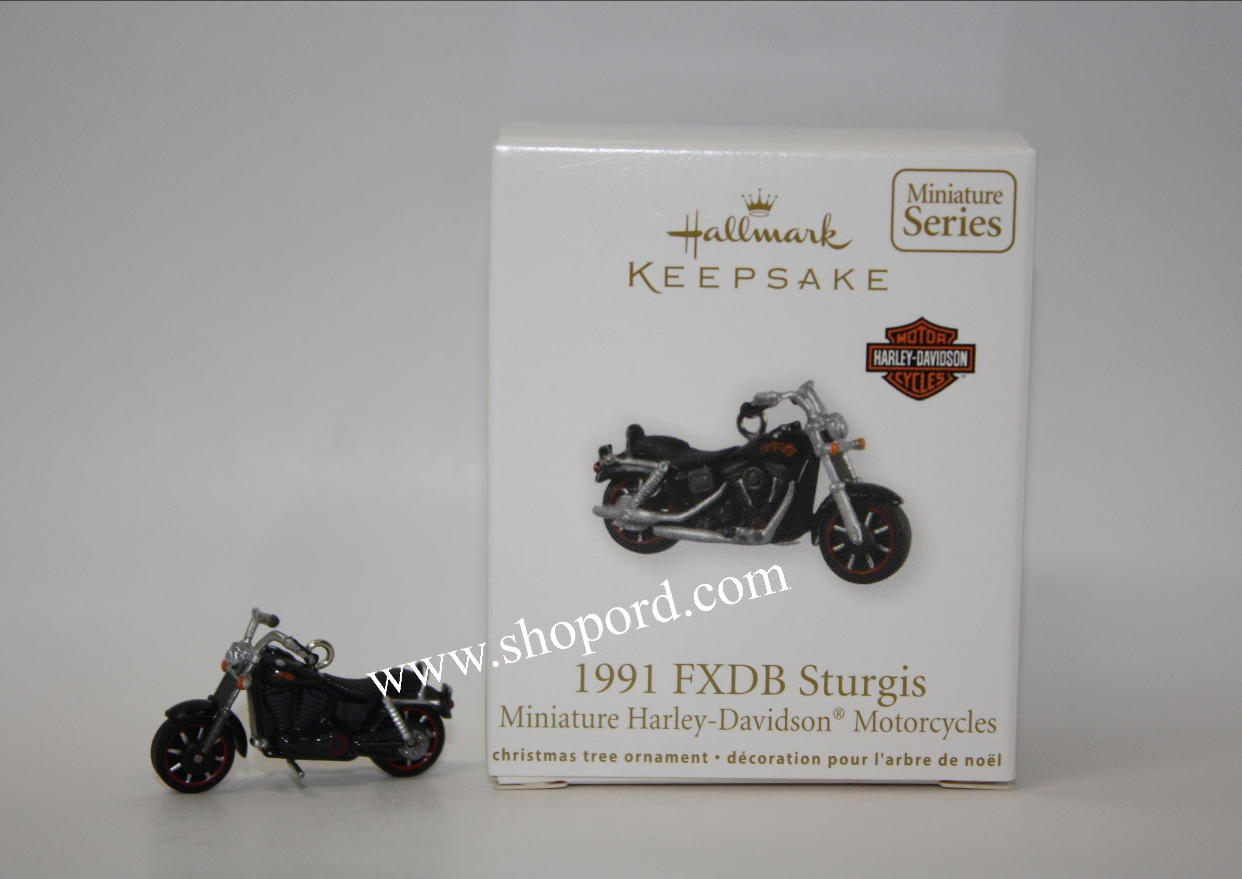 Hallmark 2011 FXDB 1991 Sturgis Miniature Ornament 13th in