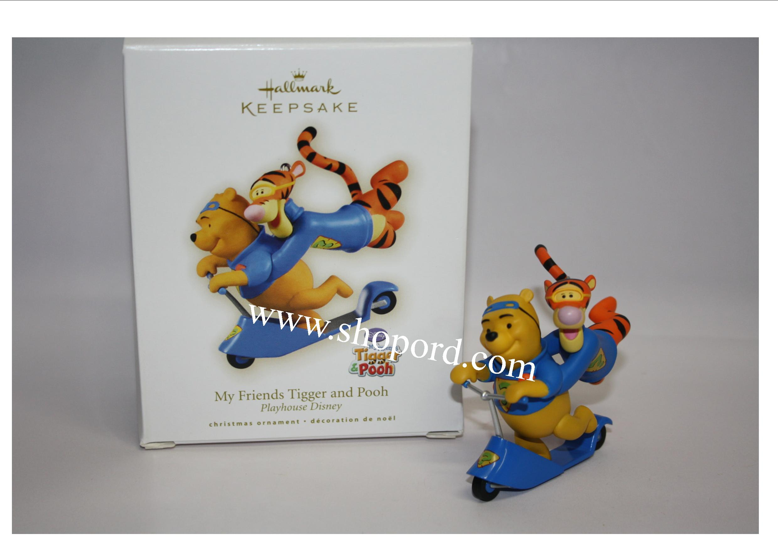 Hallmark 2009 My Friends Tigger And Pooh Ornament Disney Playhouse