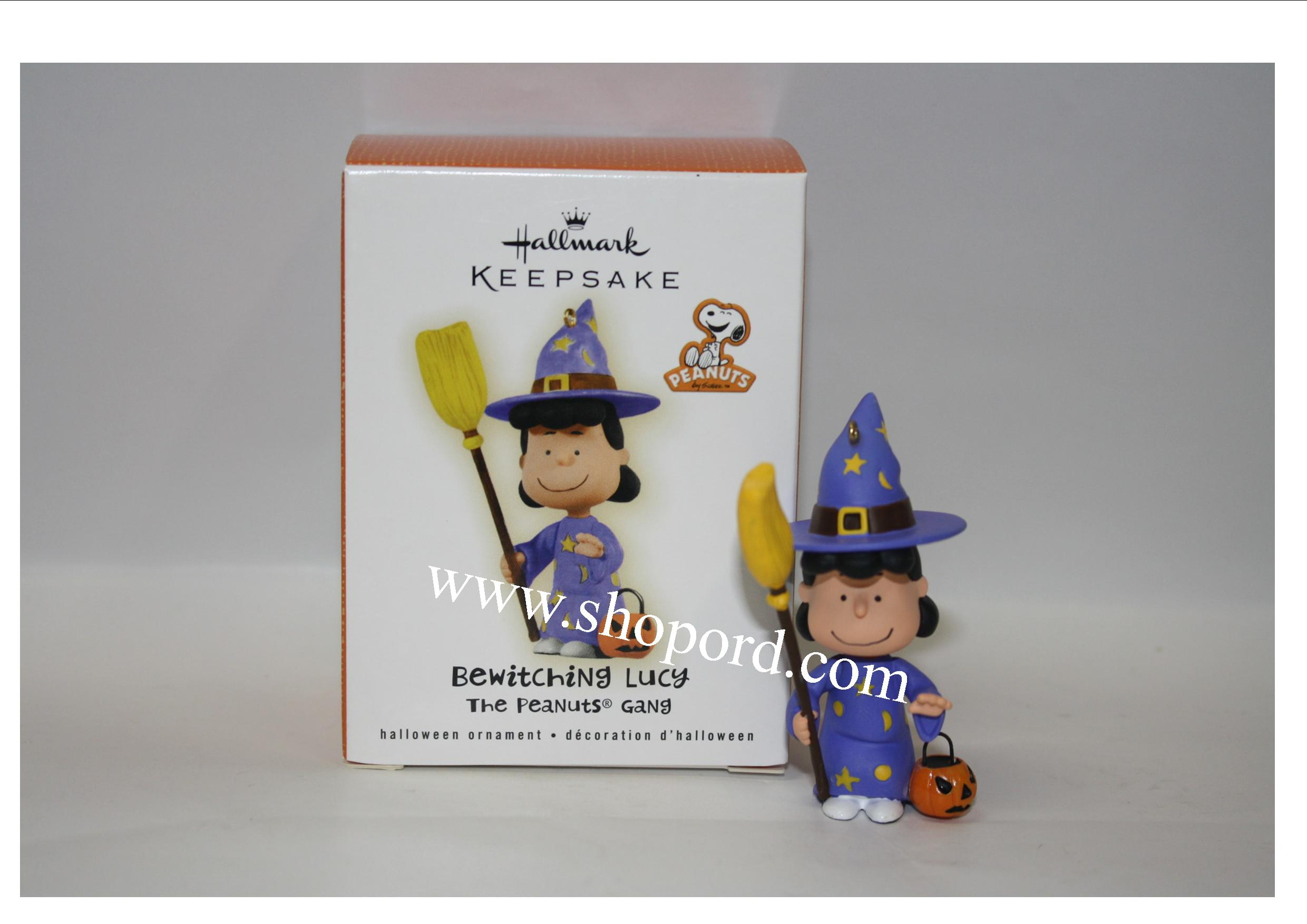 Hallmark 2009 The Peanuts Gang Halloween Ornament Bewitching Lucy ...