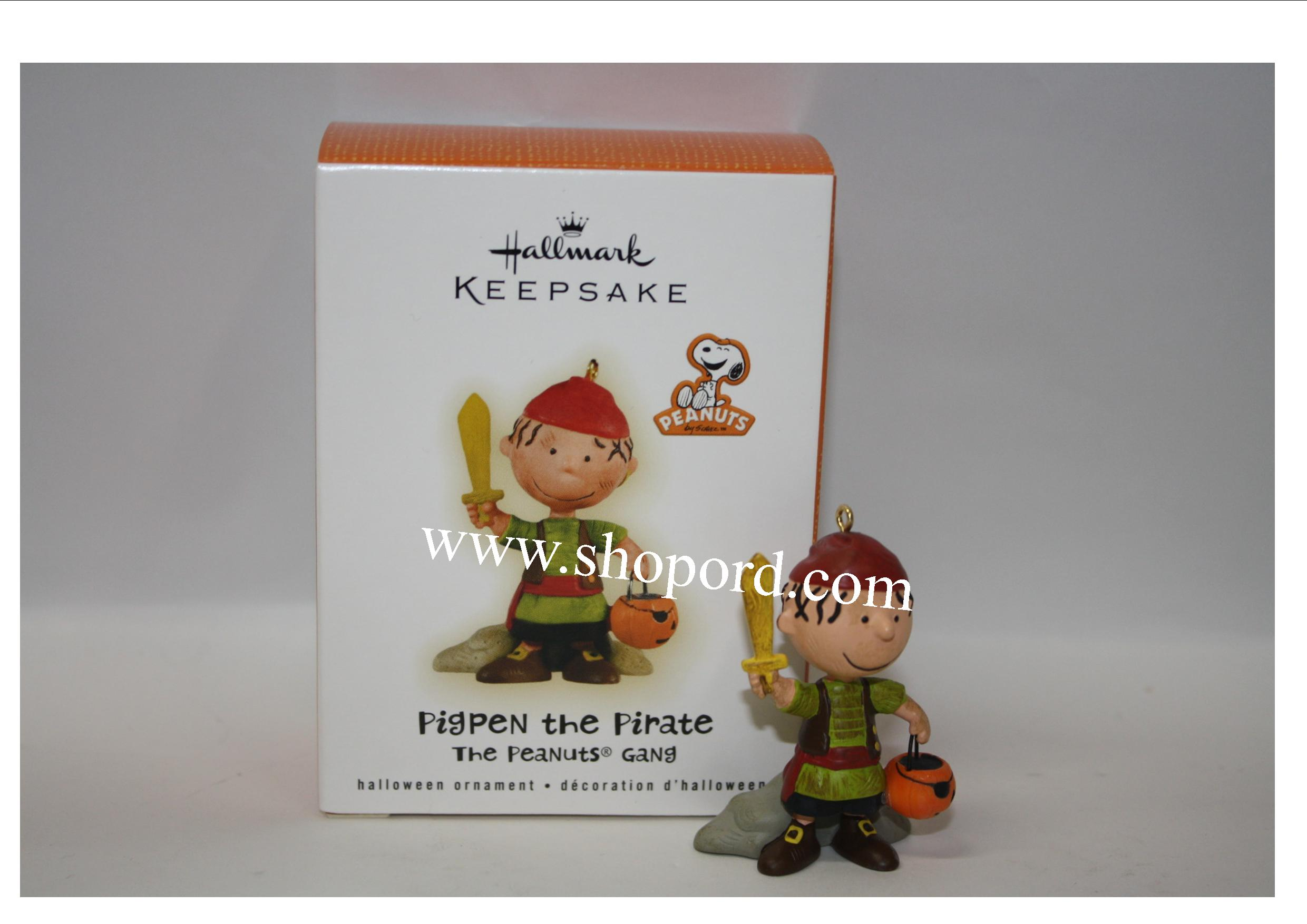 Hallmark 2009 The Peanuts Gang Halloween Ornament Pigpen the ...
