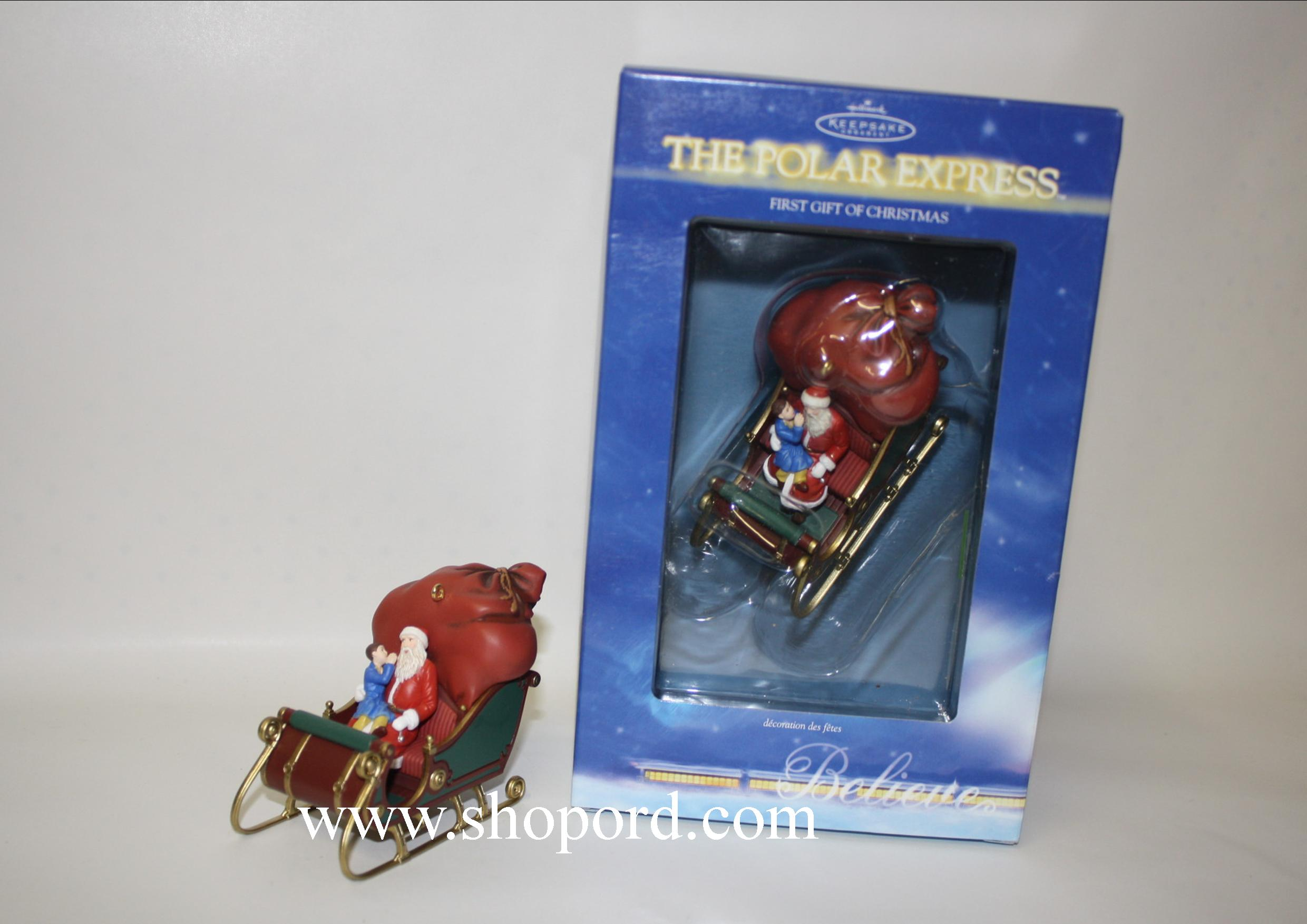 hallmark 2004 the polar express first gift of christmas ornament qsr5811