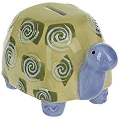 A  Ganz Ceramic Turtle Bank