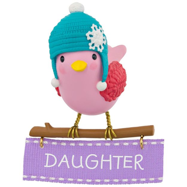 Hallmark 2017 Keepsake Winter Bird Daughter Ornament QGO1085