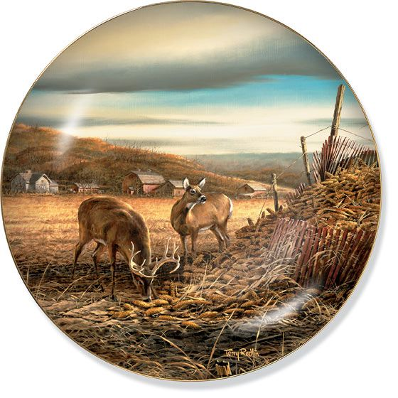 Terry Redlin- Sharing the Bounty Plate