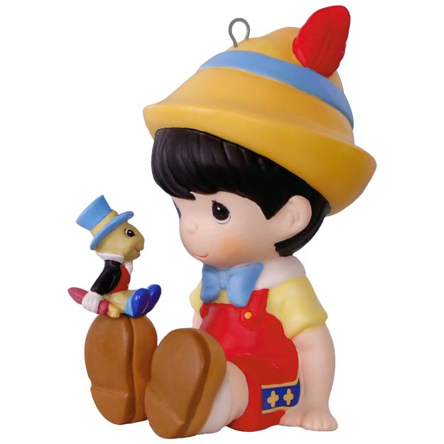 Hallmark 2017 Keepsake Pinocchio and Jiminy Cricket Ornament QXE3022