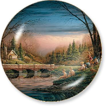 Terry Redlin- Spring Fishing Plate
