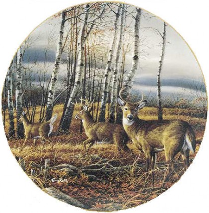 Terry Redlin- The Birch Line Plate