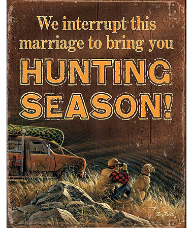 Terry Redlin- We Interrupt This Marriage Tin