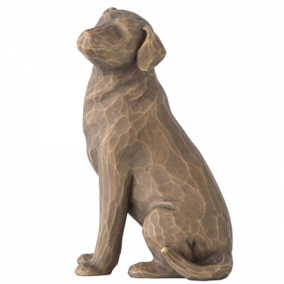 Willow Tree I Love my Dog Figurine (dark) 27683
