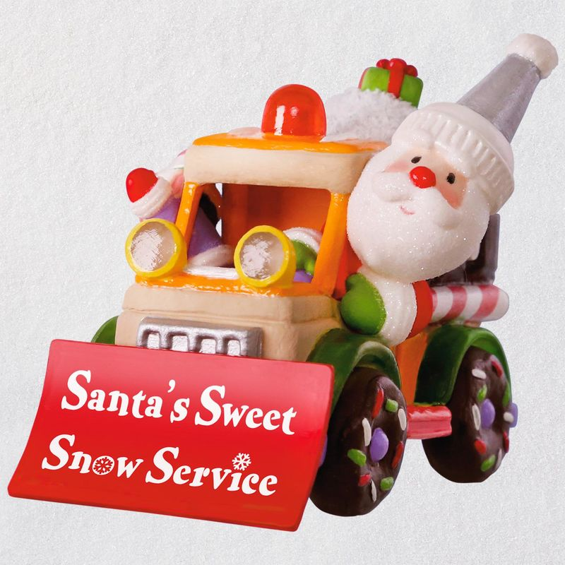 Hallmark 2018 Keepsake Santa's Sweet Snowplow Ornament QGO1916