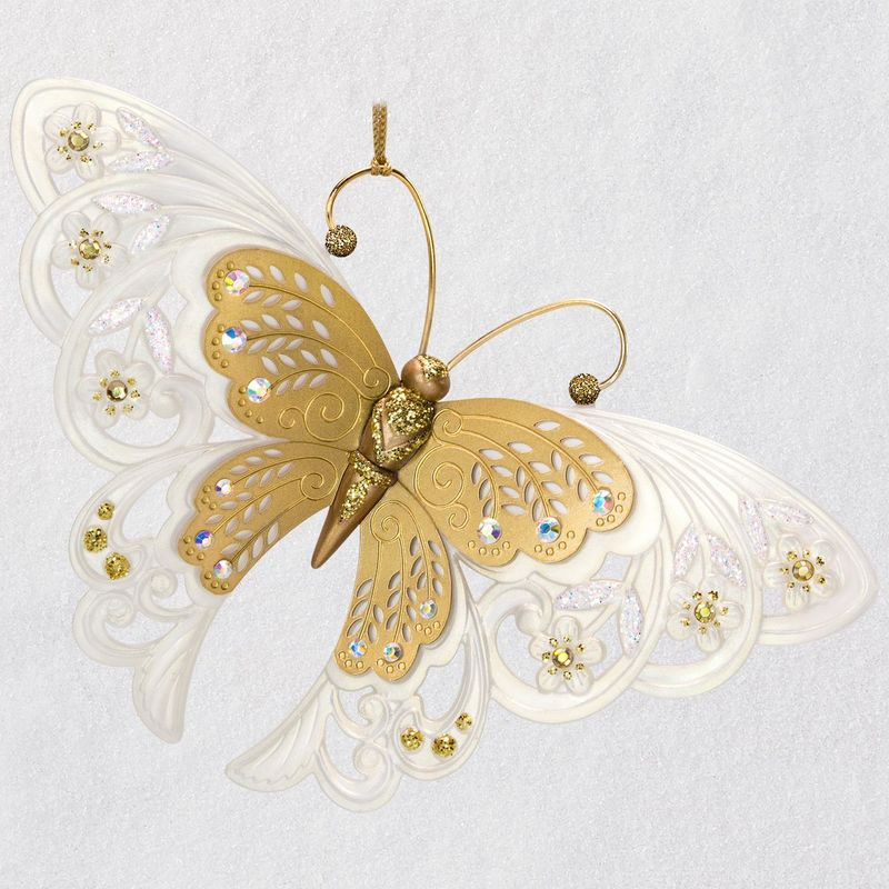 Hallmark 2018 Keepsake Brilliant Butterflies Ornament QX9486