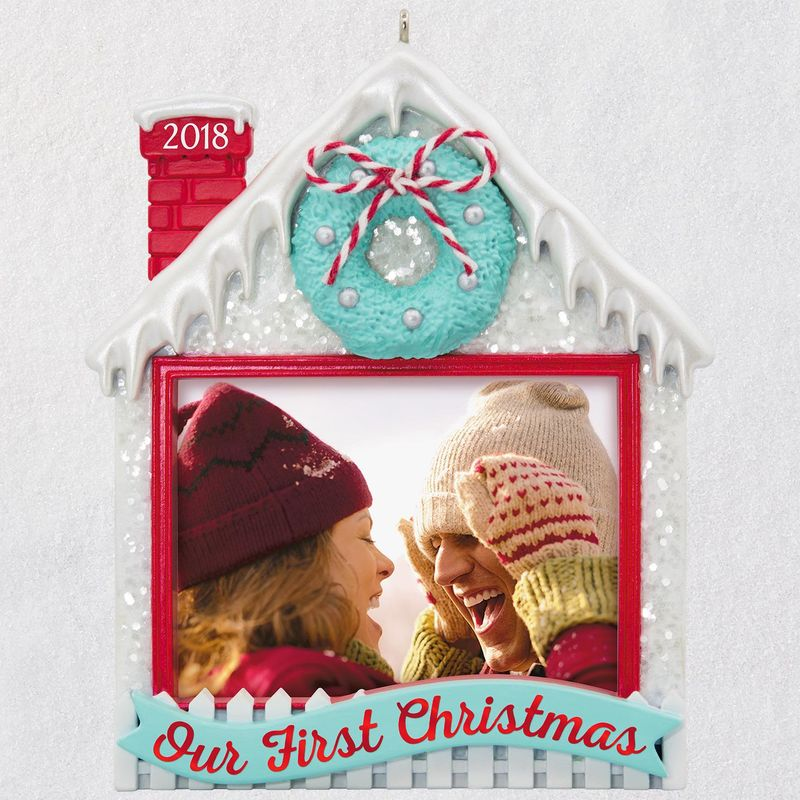 Hallmark 2018 Keepsake Our First Christmas Photo Holder Ornament QGO1746