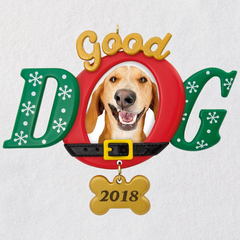 Hallmark 2018 Keepsake Good Dog Photo Holder Ornament QGO1803
