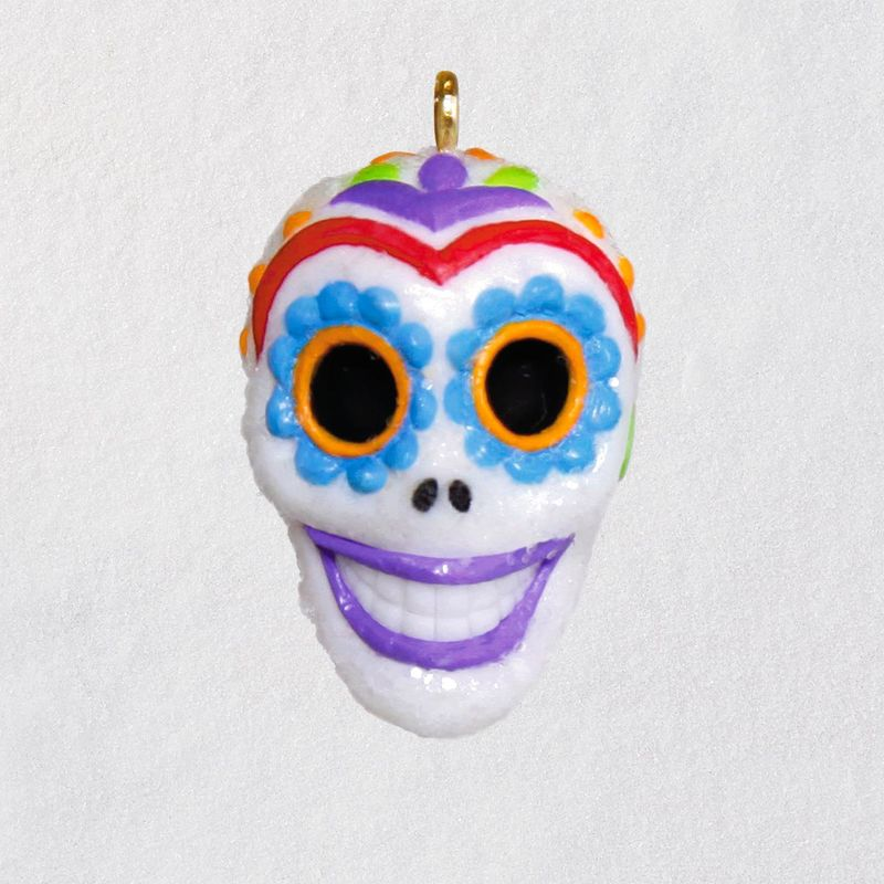 Hallmark 2018 Keepsake Sugar Skull Guy Miniature Ornament QFO5273