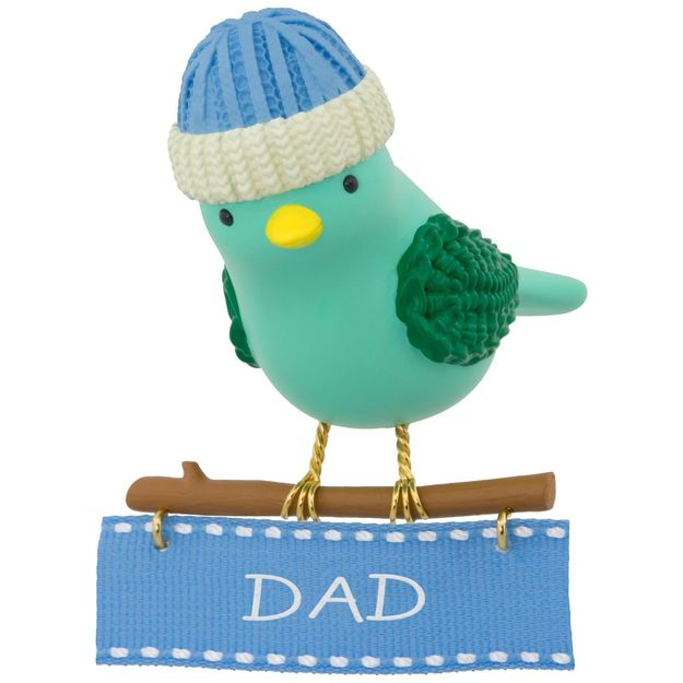 Hallmark 2017 Keepsake Winter Bird Dad Ornament QGO1082