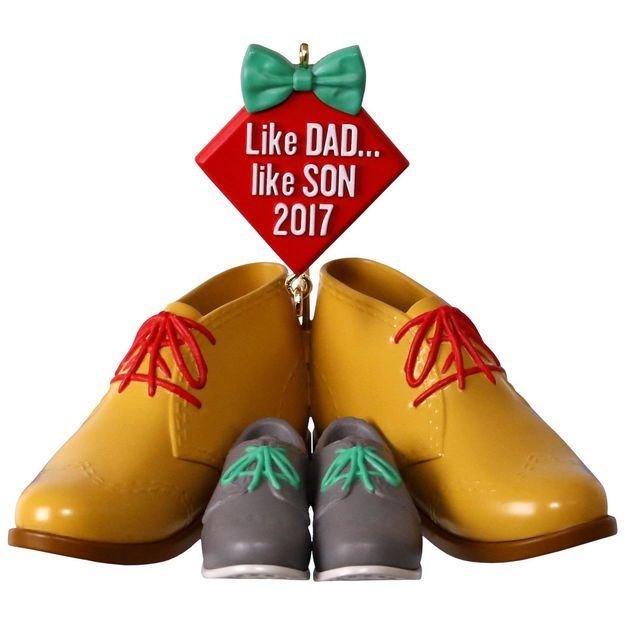 Hallmark 2017 Keepsake Like Dad, Like Son Ornament QGO1105