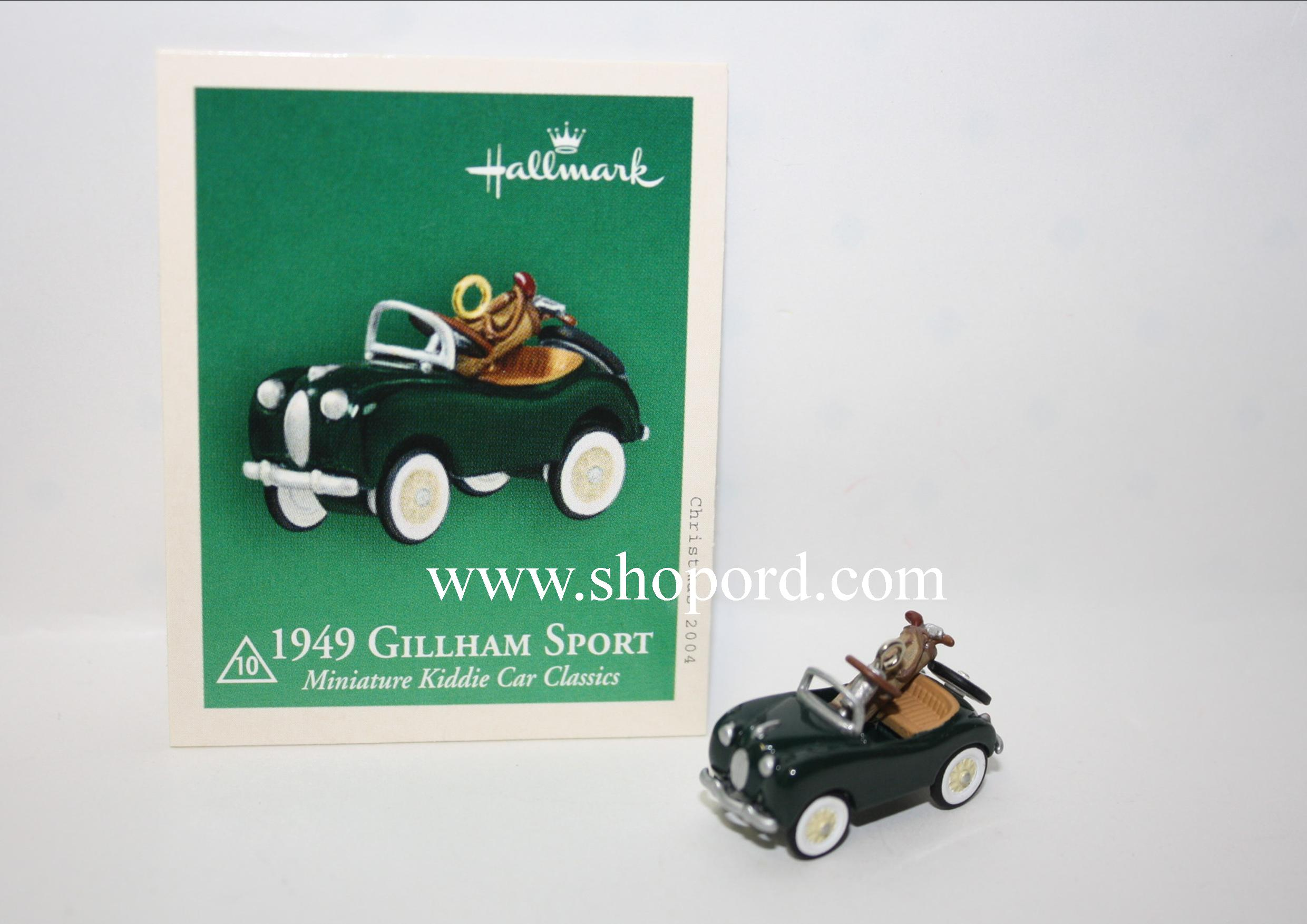 Hallmark 1949 Gillham Sport Kiddie Car Classic 2004 Miniature Ornament 10th in the series QXM5161