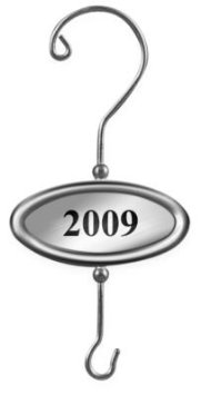 Hallmark 2009 Dated Ornament Tag QLZ3910