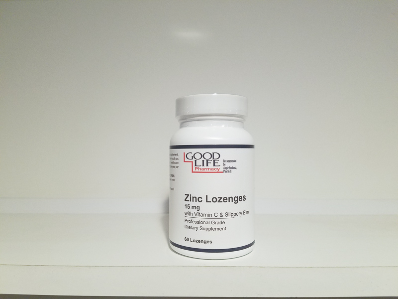 Zinc Lozenges / 15 mg with Vitamin C & Slippery Elm