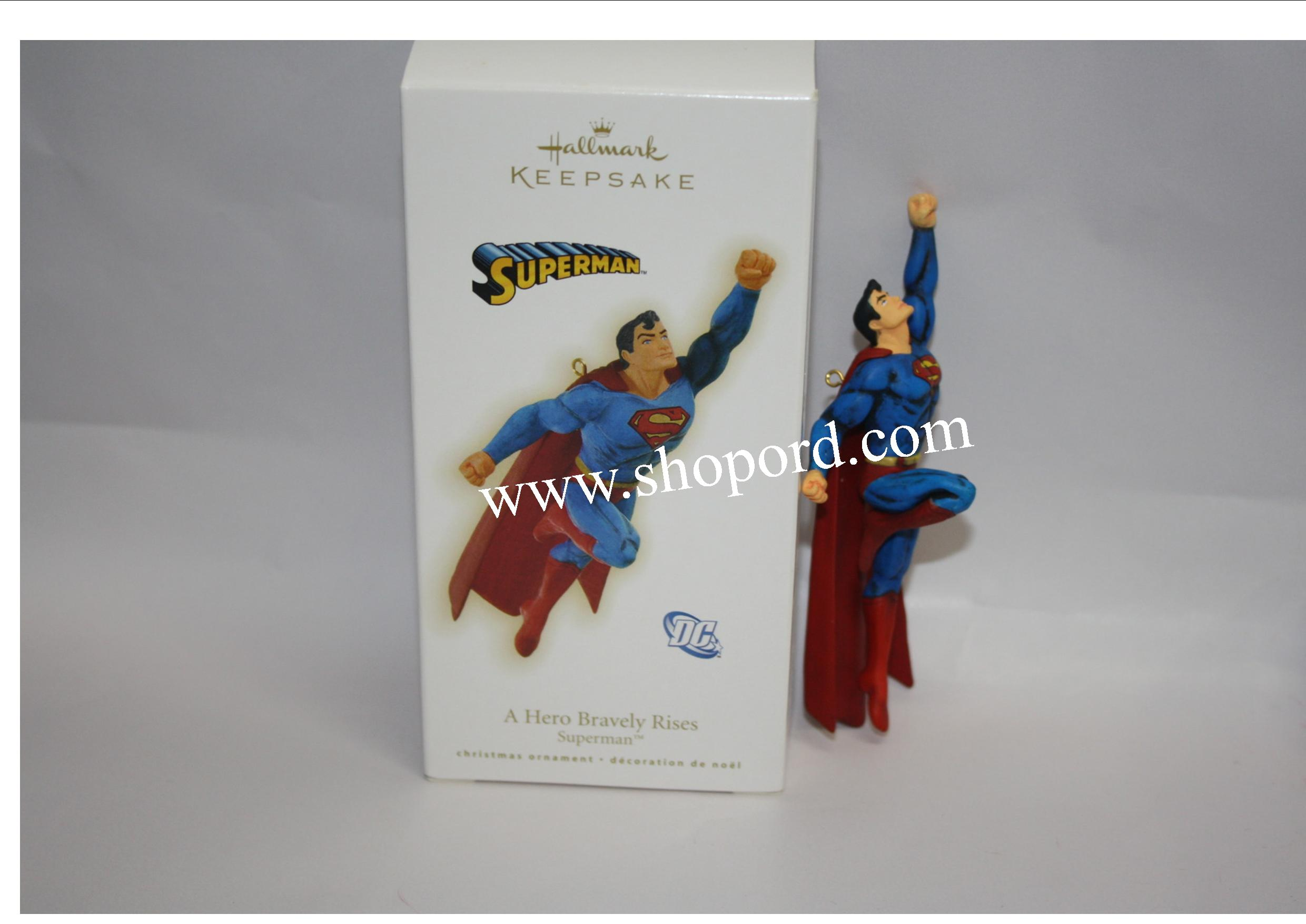 Hallmark 2009 A Hero Bravely Rises Superman Ornament QXI1005 Damaged Box