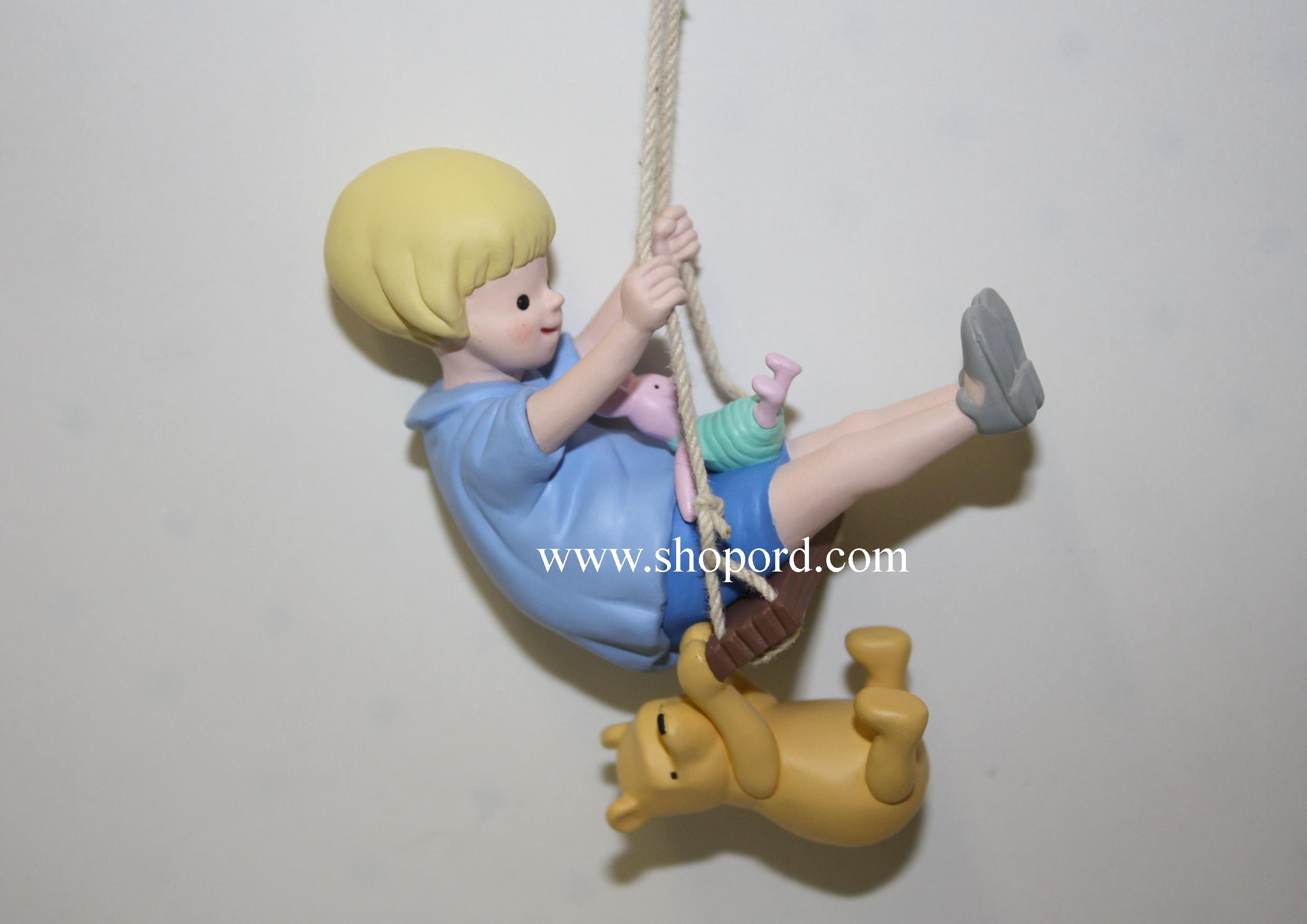Hallmark 2000 A Swing With Friends Christopher Robin Classic Pooh Collection Disney Spring Ornament QEO8414