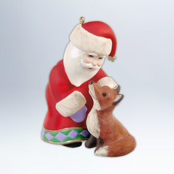 Hallmark 2012 A Visit From Santa Ornament 4th in the series QX8064