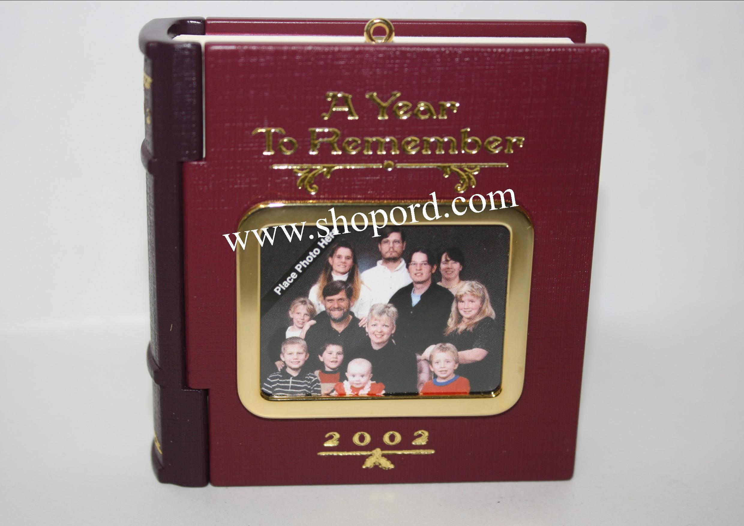 Hallmark 2002 A Year To Remember 2002 Photo Holder Ornament QX2813