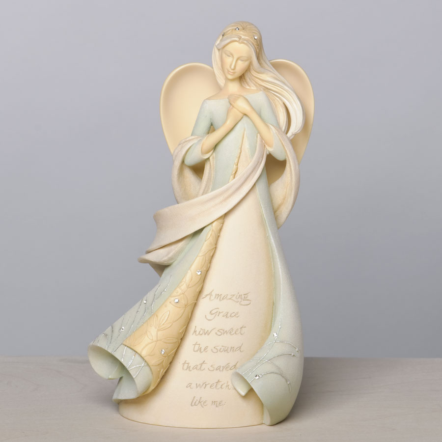 Enesco Foundations Amazing Grace Angel Figurine 4035620