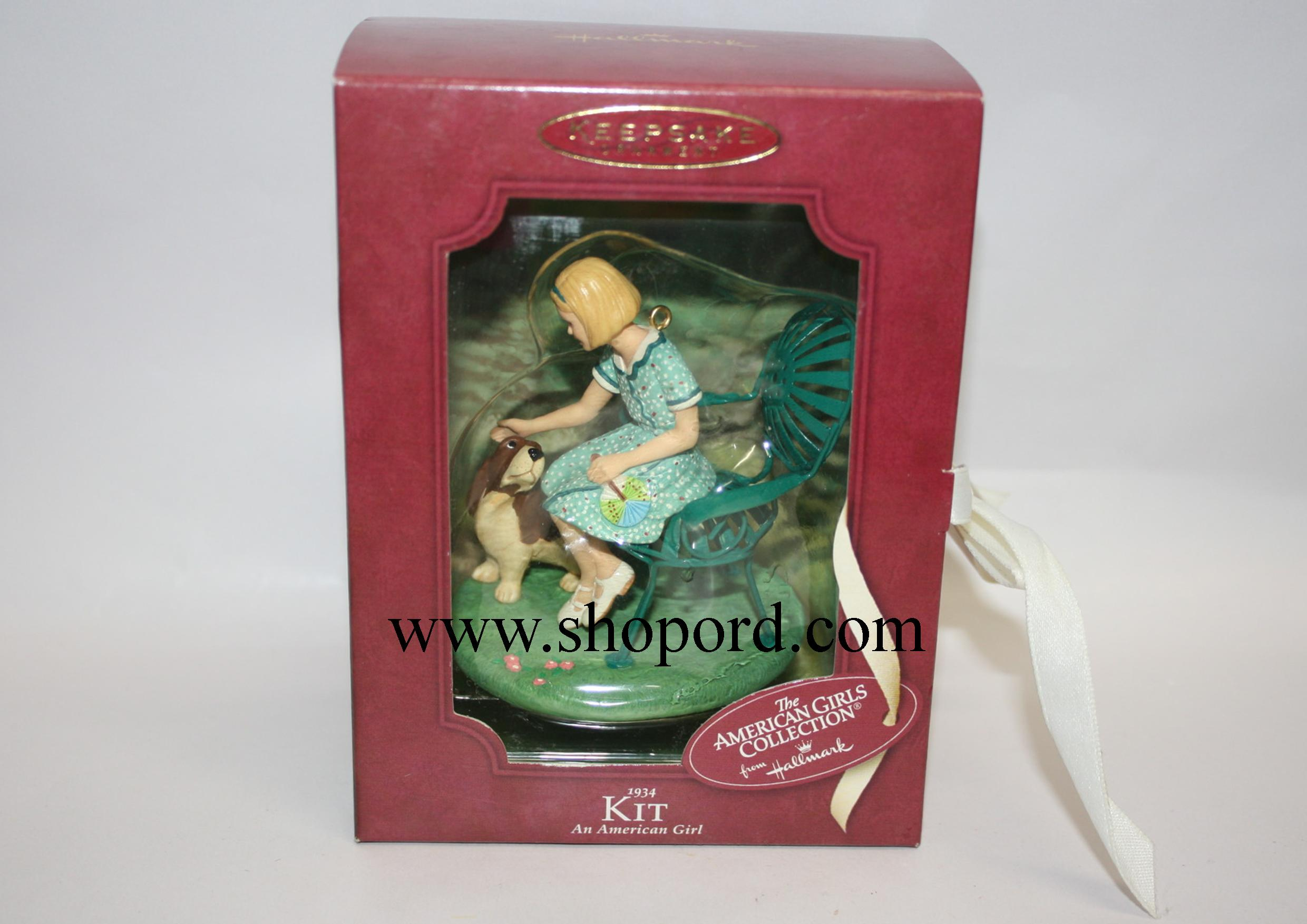 Hallmark 2003 American Girl Kit Ornament 1934 QAC6417