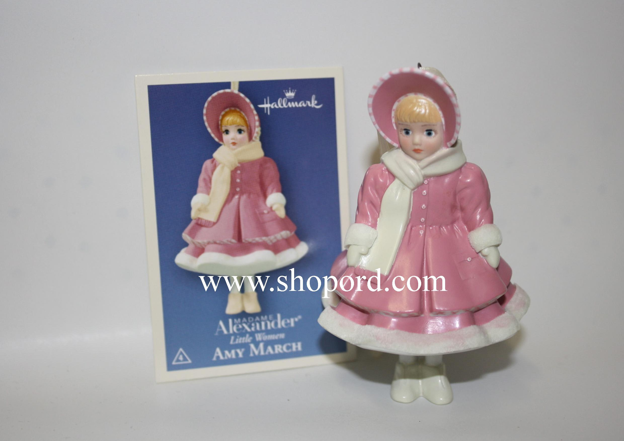Hallmark 2004 Amy March Ornament 4th and Final in the Madame Alexander Little Women Series QX8404