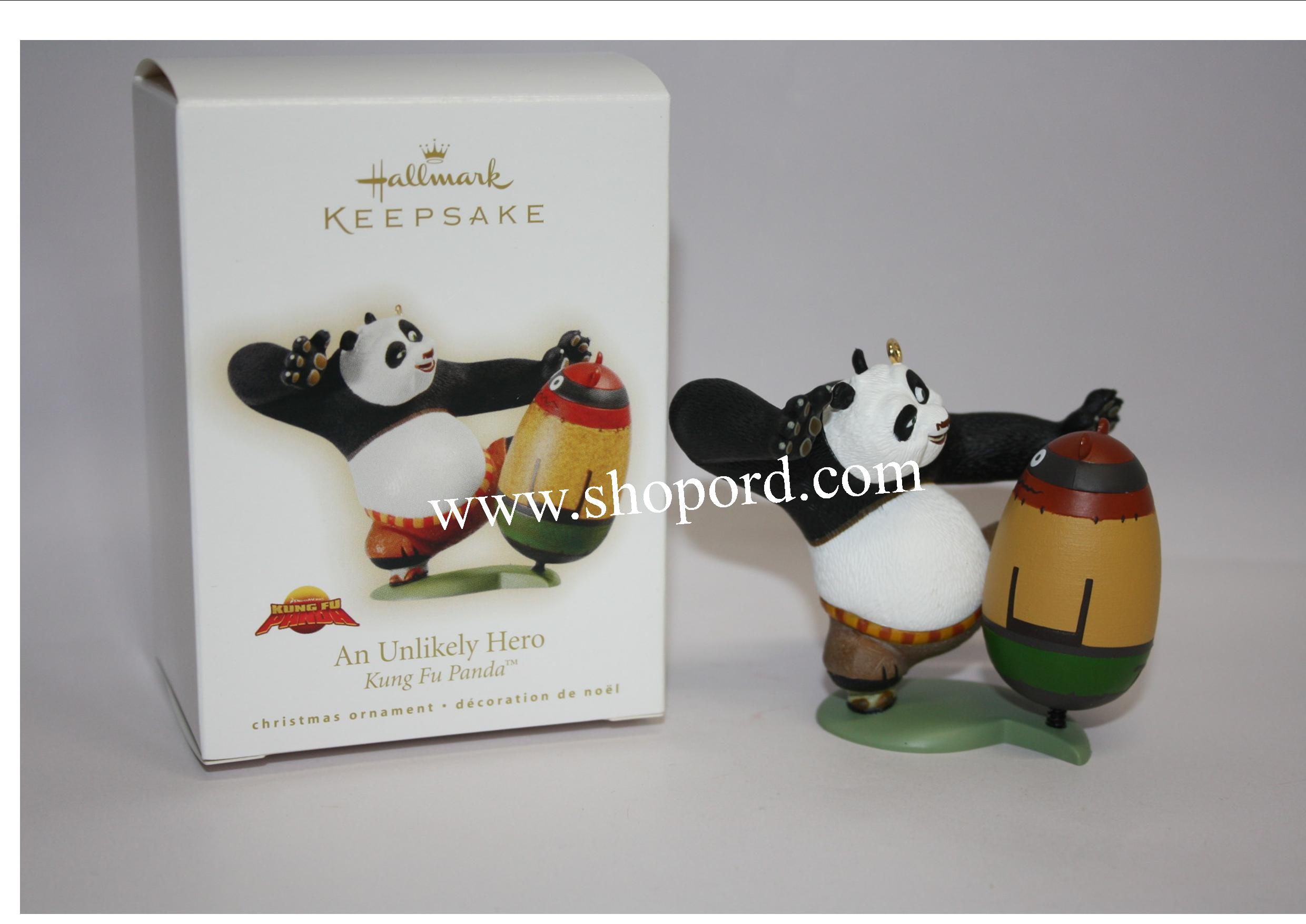 Hallmark 2009 An Unlikely Hero Kung Fu Panda Ornament QXI1335