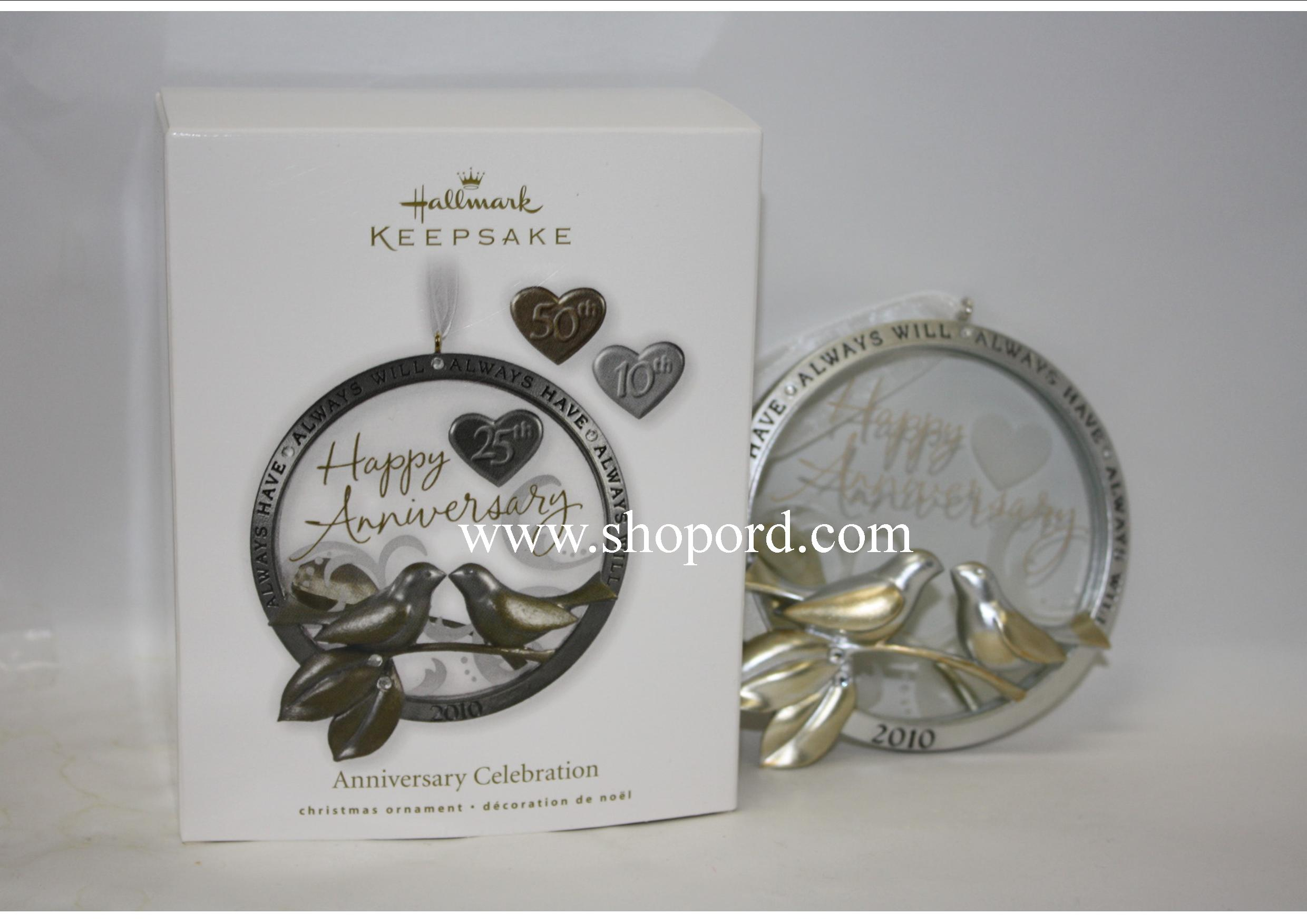 Hallmark 2010 Anniversary Celebration Ornament QXG7536