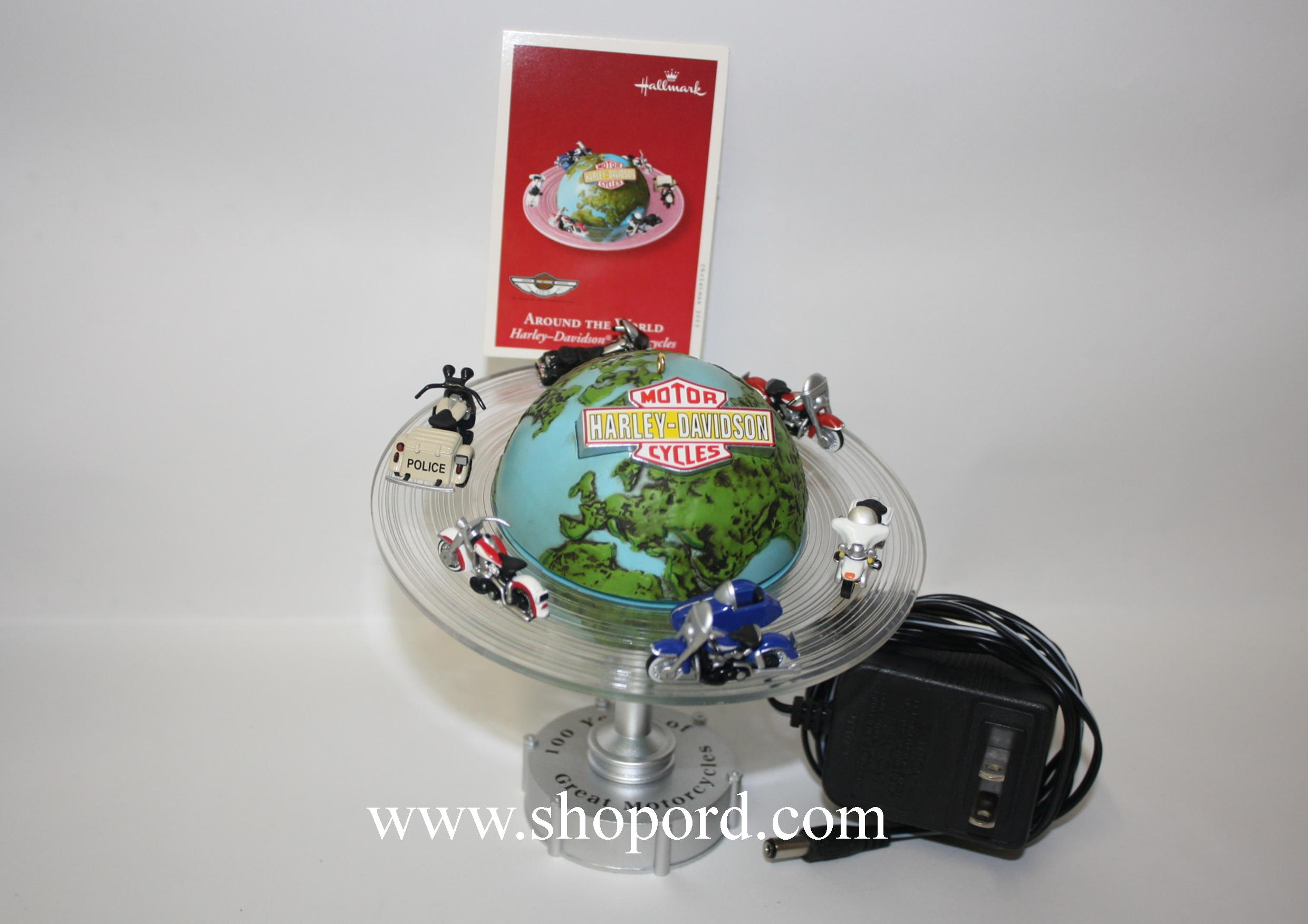 Hallmark 2003 Around The World Ornament Harley Davidson Motorcycles QXI7489