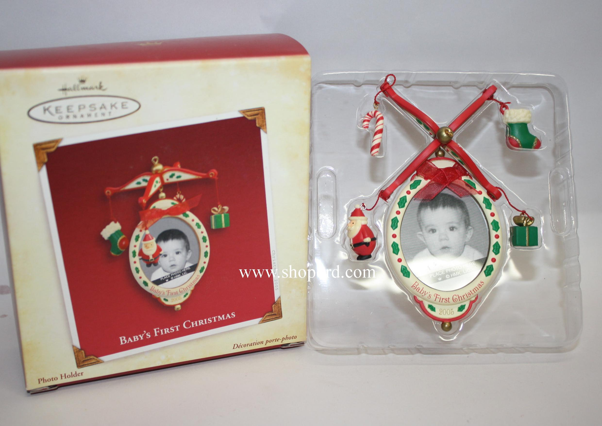 Hallmark 2005 Baby's First Christmas Photo Holder Ornament QXG4622 Damaged Box