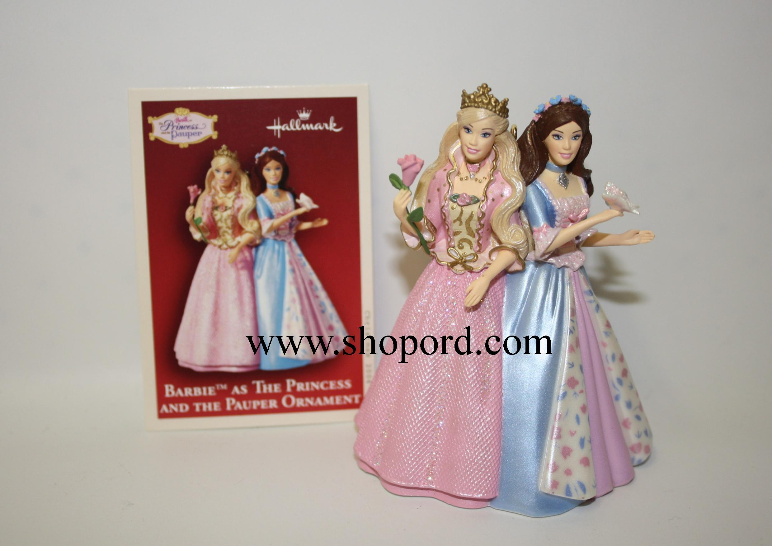 Hallmark 2004 Barbie As The Princess And The Pauper Ornament QXI8614