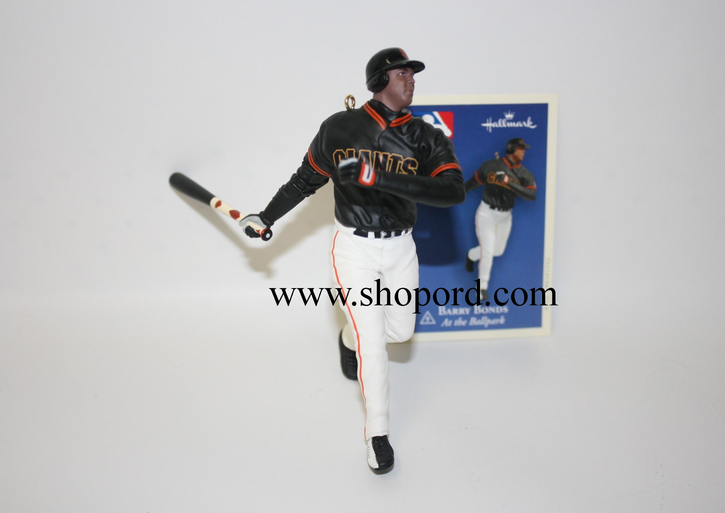 Hallmark 2004 Barry Bonds Baseball Ornament 9th in the At The Ballpark Series QX8551