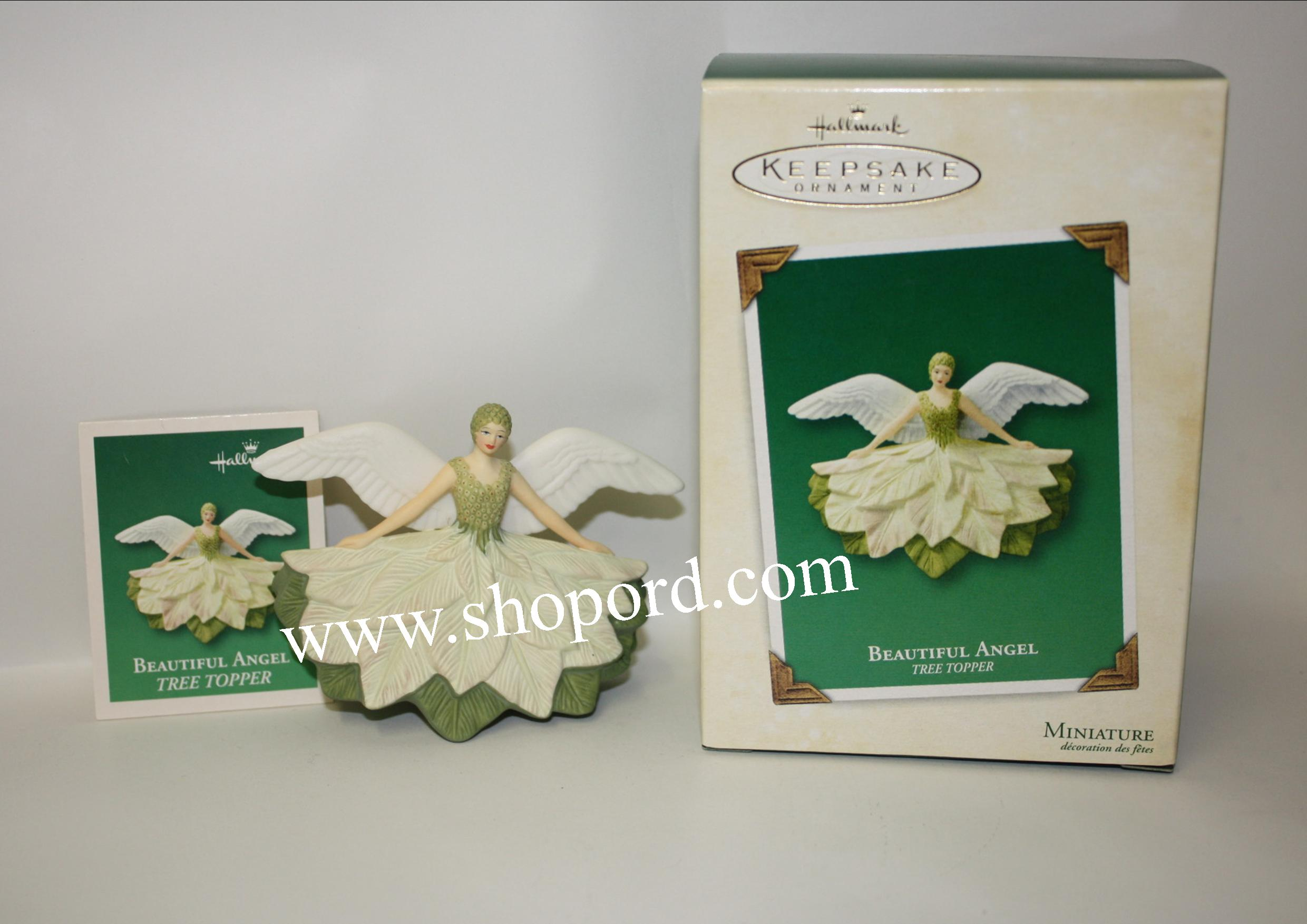 Hallmark 2003 Beautiful Angel Miniature Ornament Tree Topper QXM4987