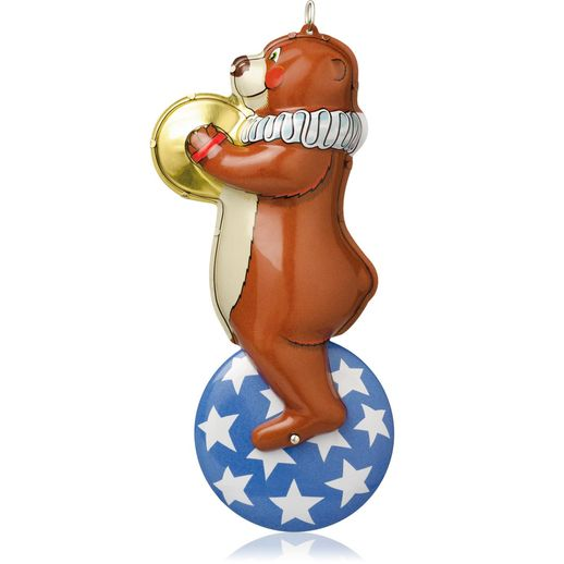 Hallmark 2014 Big Top Bear Ornament 1st in the Tin Toys series QX9236
