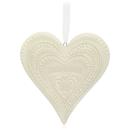 Hallmark 2015 Born In Our Hearts Adoption Porcelain Ornament QGO1247