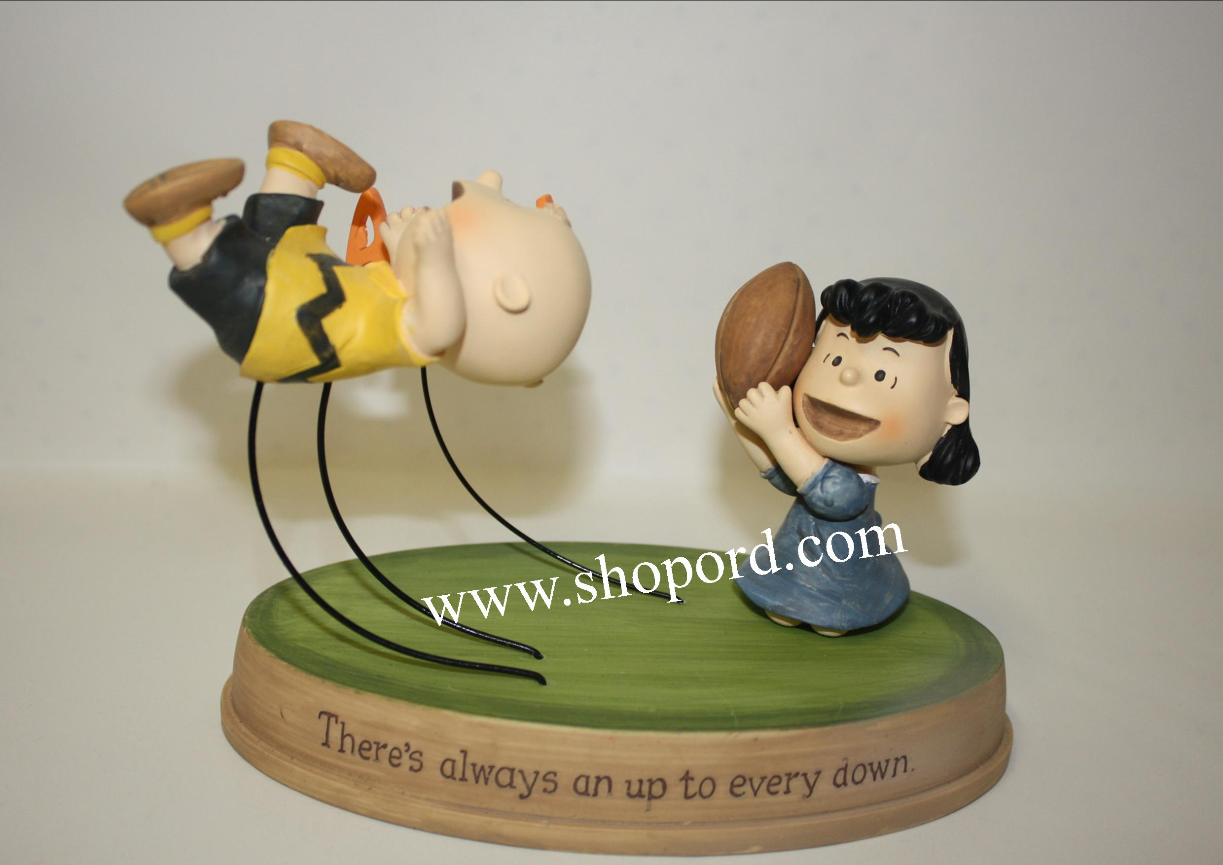Hallmark Peanuts Charlie Brown and Lucy There's Always An Up To Every Down Figurine PAJ1129