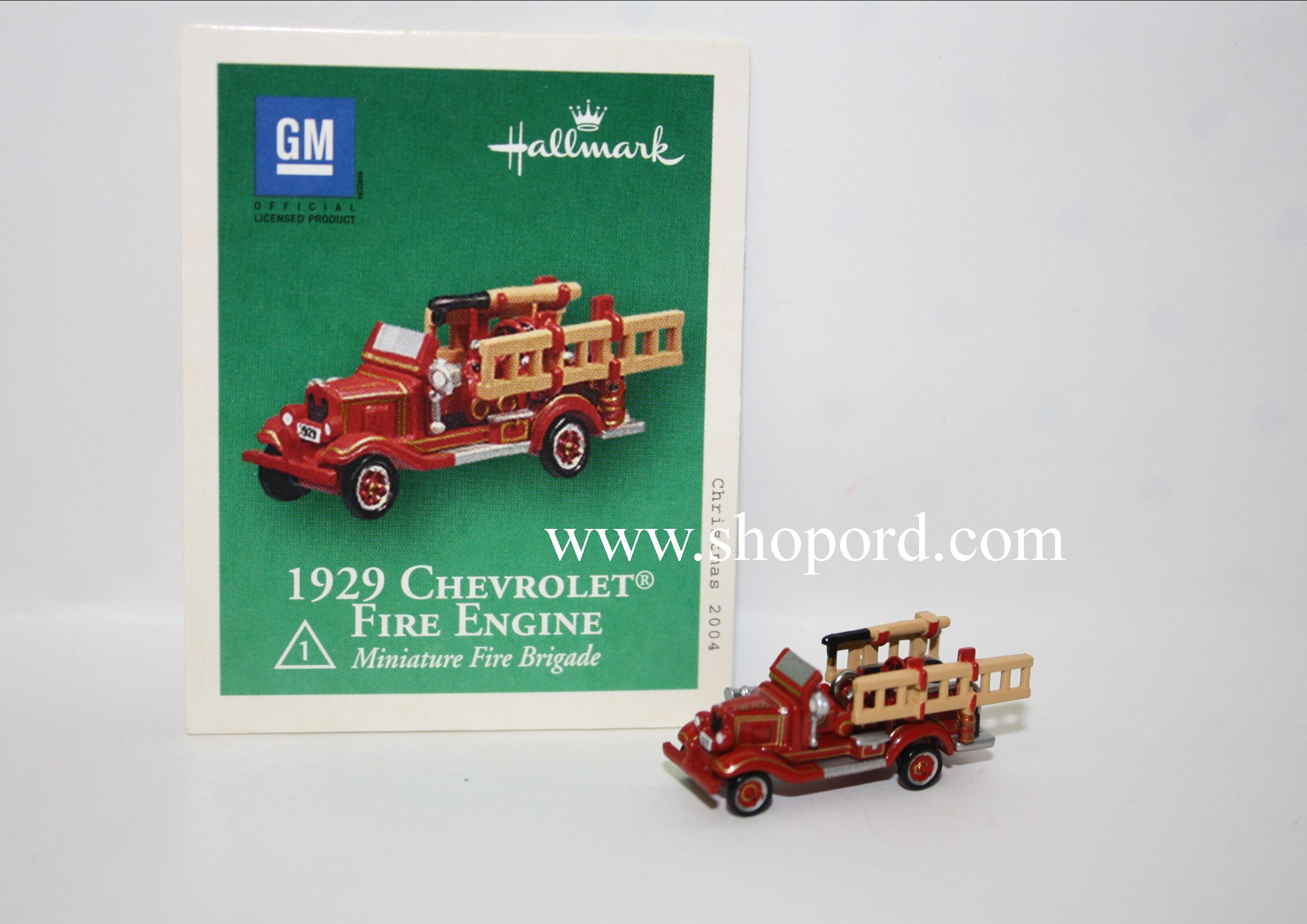 Hallmark 1929 Chevrolet Fire Engine 2004 Miniature Ornament 1st in the Fire Brigade Series QXM5164