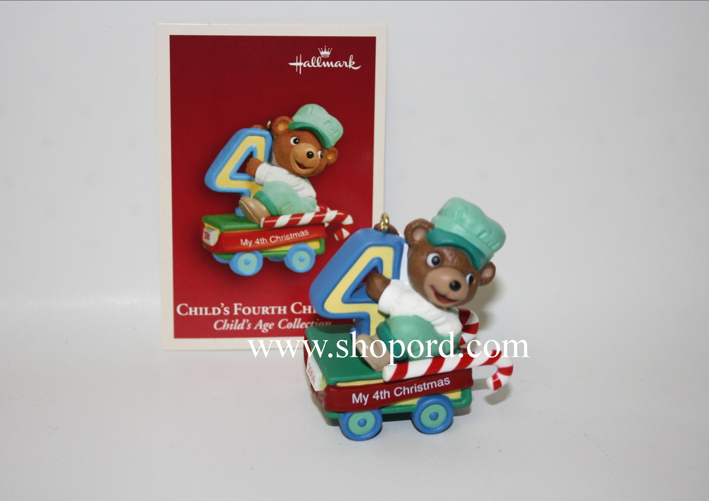 Hallmark 2004 Childs Fourth Christmas Childs Age Train Collection QXG5571
