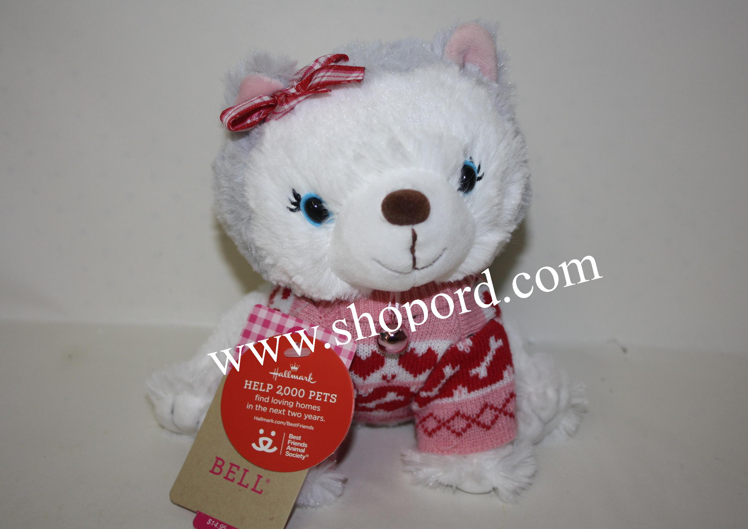 Hallmark Christmas Sweater Bell Husky Plush XKT1624