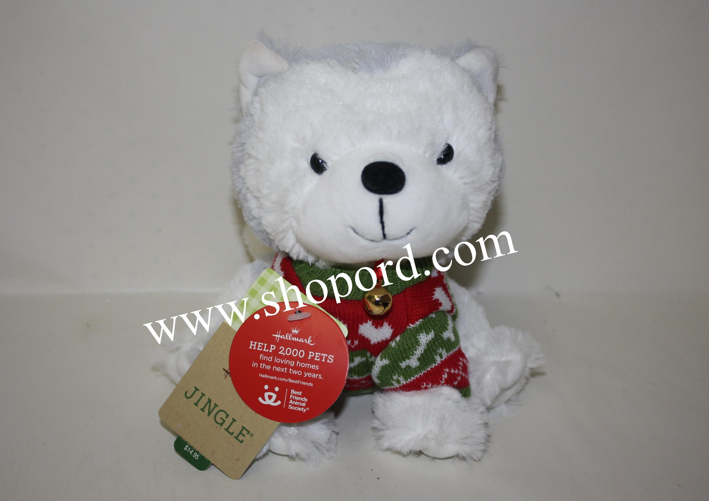 Hallmark Christmas Sweater Jingle Husky Plush XKT1623