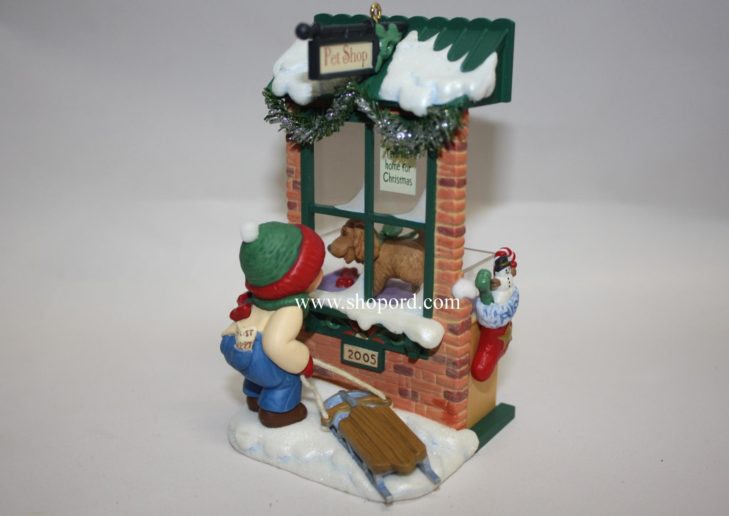 Hallmark 2005 Christmas Window Ornament Keepsake Club Exclusive 3rd in the Christmas Windows  series KOC QXC5003 Damaged Box
