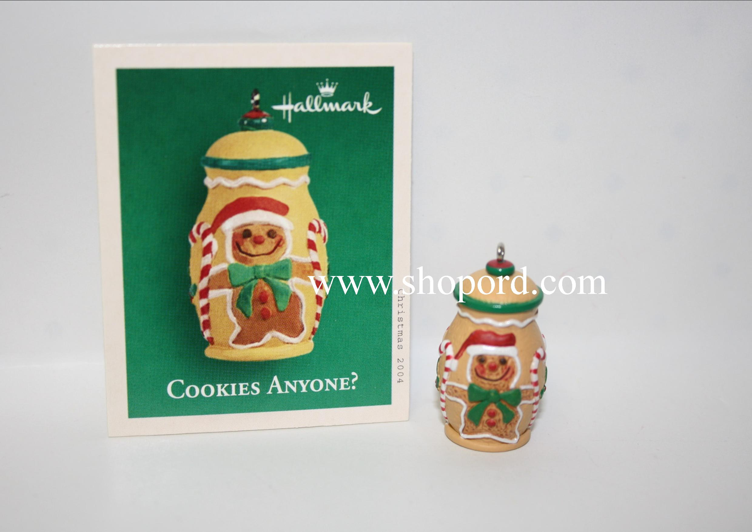 Hallmark 2004 Cookies Anyone Miniature Ornament WD3037