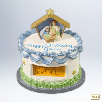 Hallmark 2012 Countdown to Jesus Birthday Ornament QXG4494