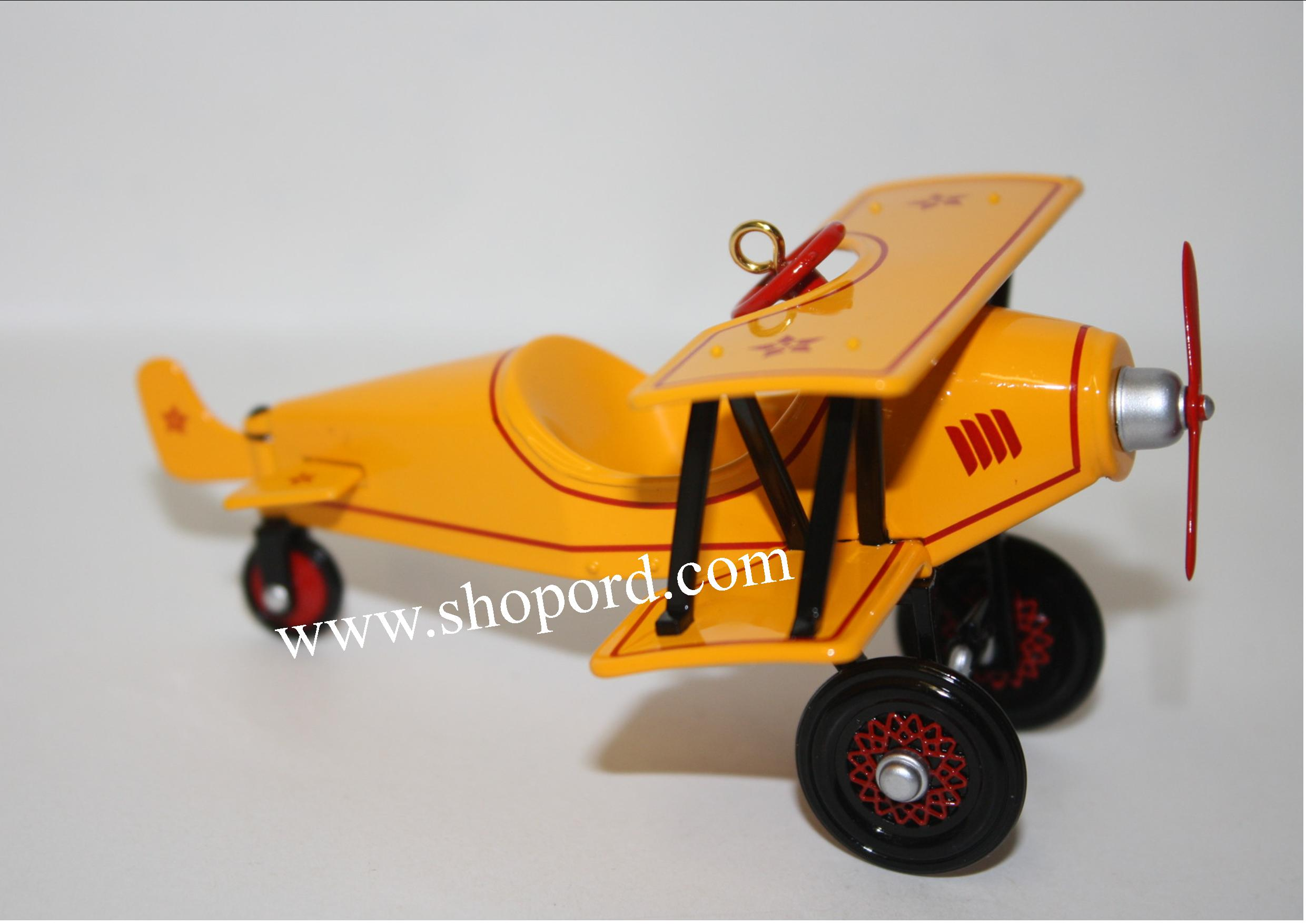 Hallmark 2001 Custom 1930 Biplane 8th In The Kiddie Car Classics QX6975